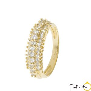 Zlatý prsteň 10615MS19